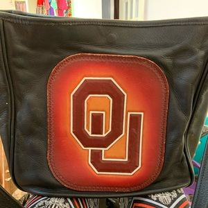 Real leather diaper bag